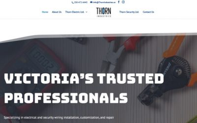Web Design for Trades – Local Electricians – ThornIndustries.ca