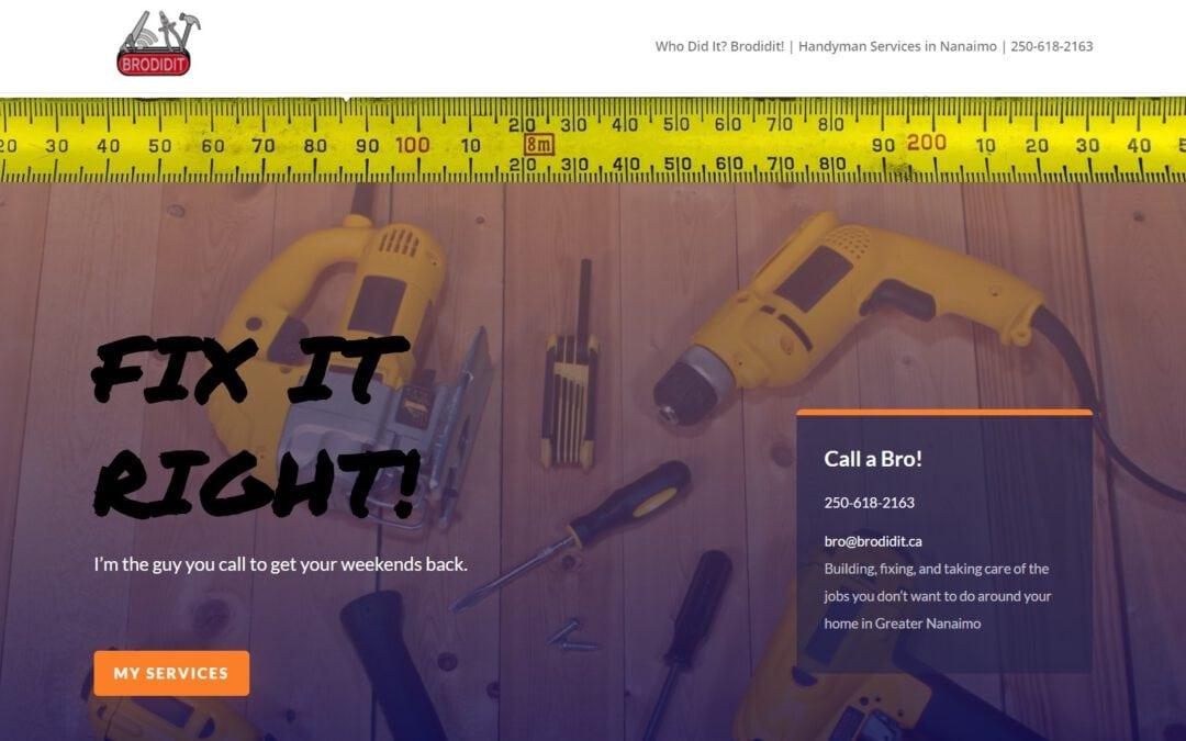 Small Business Spotlight Series: Brodidit – Nanaimo Handyman