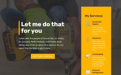 Websites for Handymen – GrandFallsHandyman.com